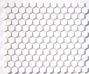 Dutch White Lyric Now Satin Glaze Hexagons Lnm 120s On Sale Your Price 6 29 Sheet Size 84 S F Tile Size 1 I In 2020 Hexagonal Mosaic Porcelain Mosaic Tile