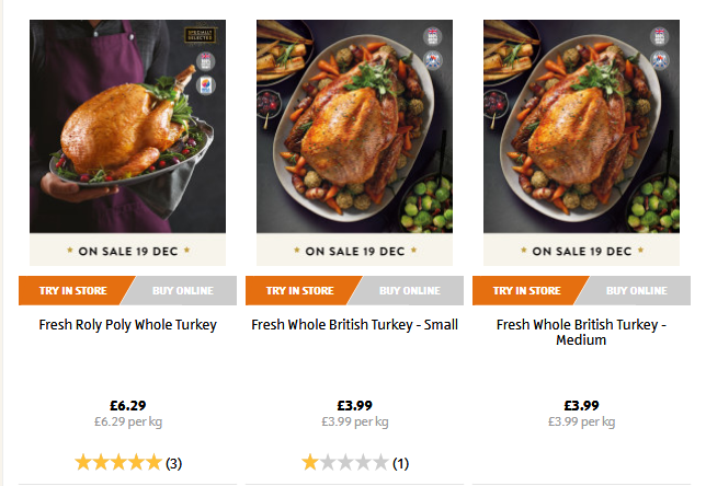 ALDI Christmas Food Meat & Poultry on sale 19 December