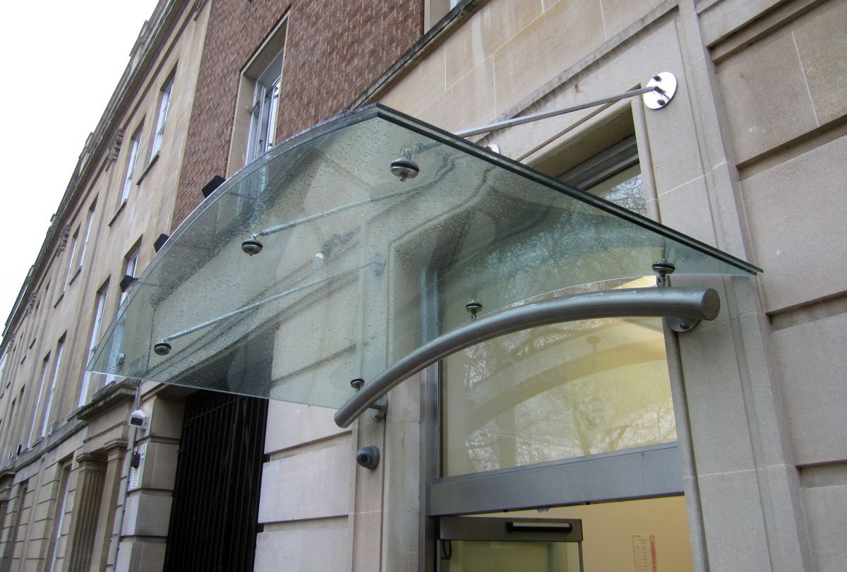 Curved Laminated Glass Canopy Bristol Laminated Glass Glass Curved Glass