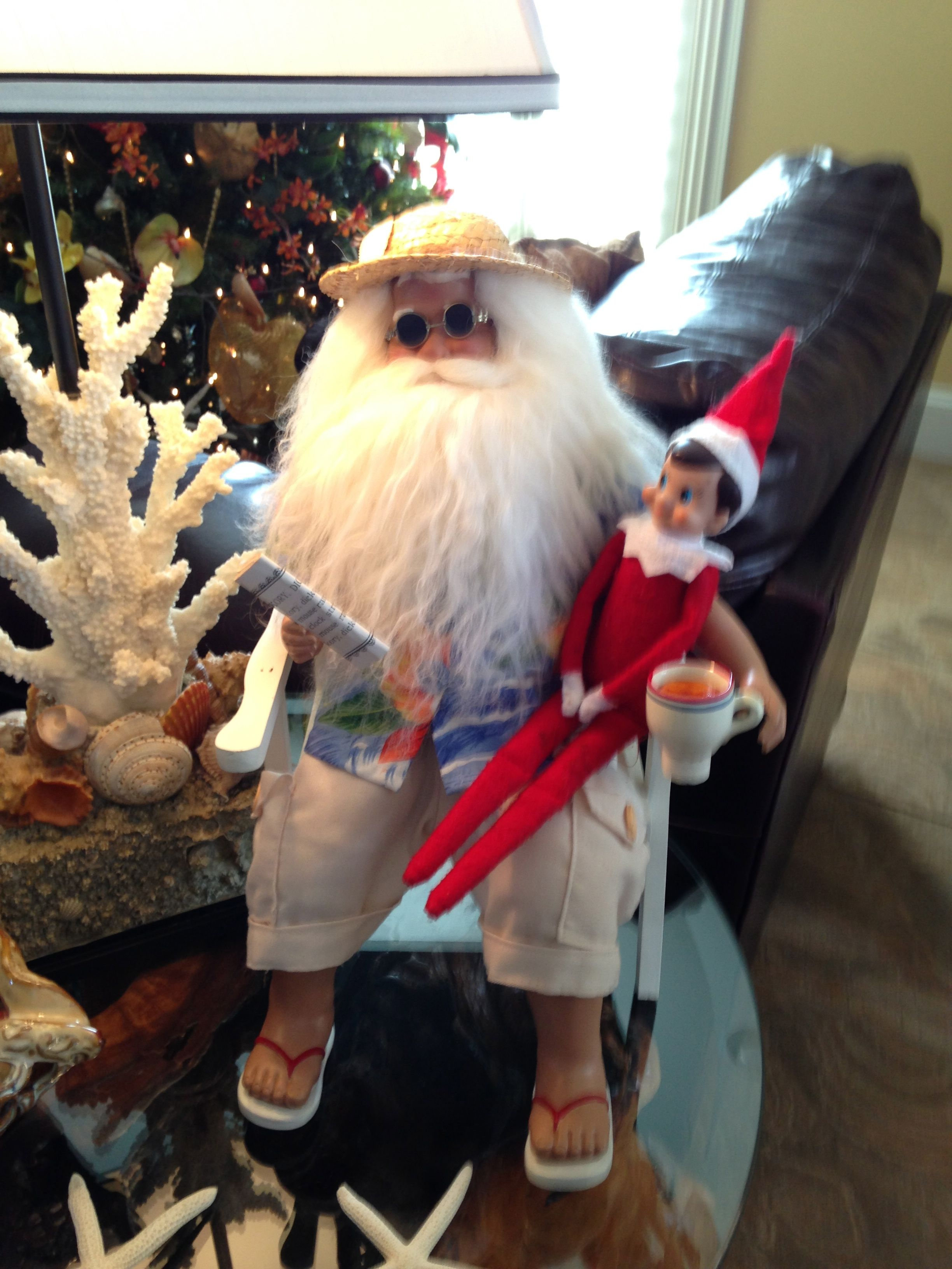 Clint Is Hanging Out With Beach Santa!