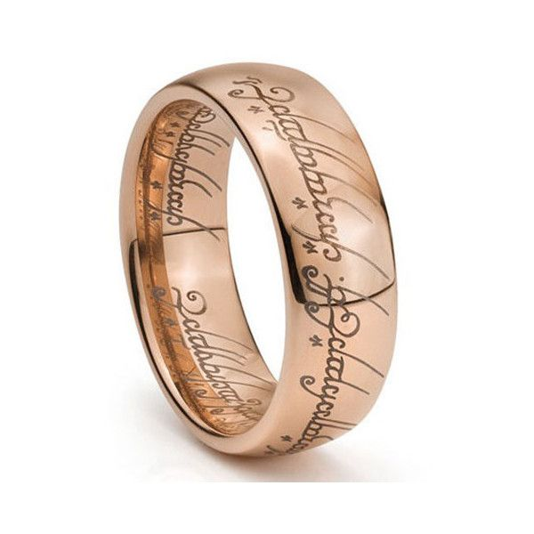 8mm width Rose Gold Lord of Ring LOTR Ring ONE Ring Tungsten Ring