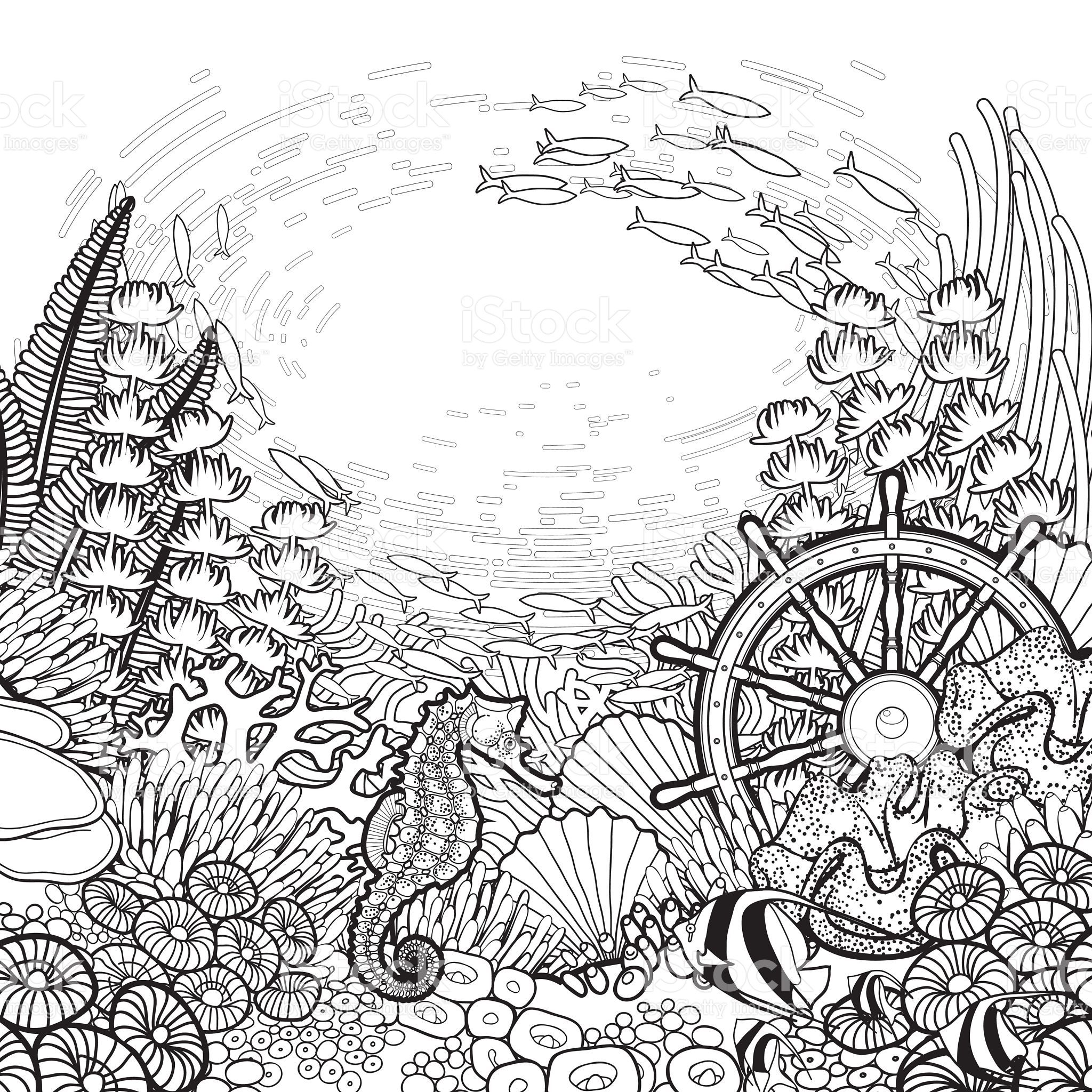 Free Coloring Pages Of A Sunken Ship, Download Free Clip Art, Free ... | 2048x2048