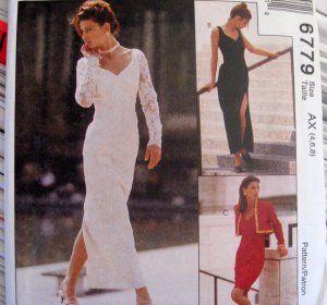 McCALLS SEWING PATTERN - 6779 - SZ 4,6,8 - EVENING DRESS