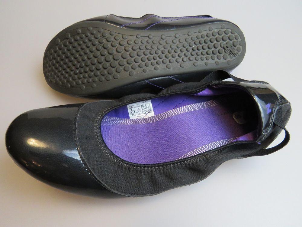 c8946b5558d08 NEW BALANCE Well 2 Go WL115BK2 Black Purple Flats Women's Size 10 Medium # NewBalance #BalletFlats #Casual