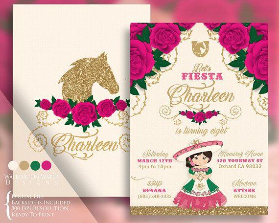 15 Anos Dresses From Mexico: Escaramuza Charro Pink Invitation, Mexican Traditions