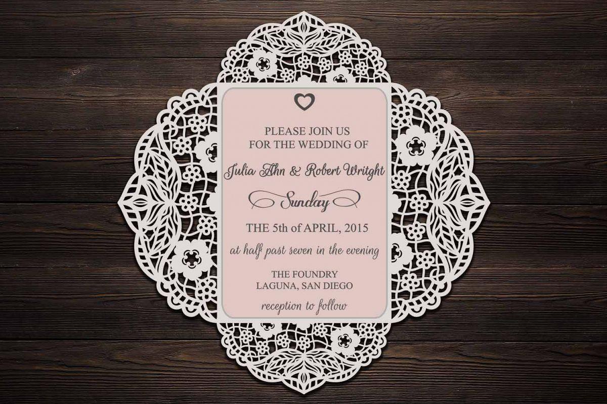 Four fold wedding invitation cricut wedding invitation svg