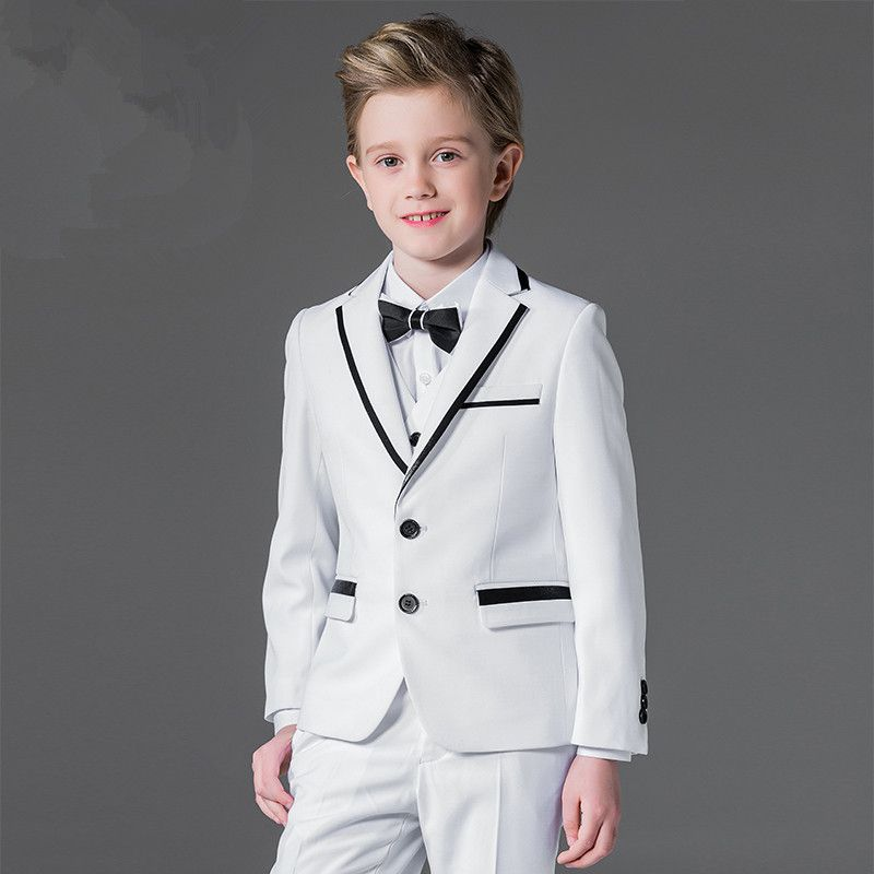 Page Boy Wedding Suit Child Dinner Ball Party Tuxedo Custom Made Kid Formal Suit