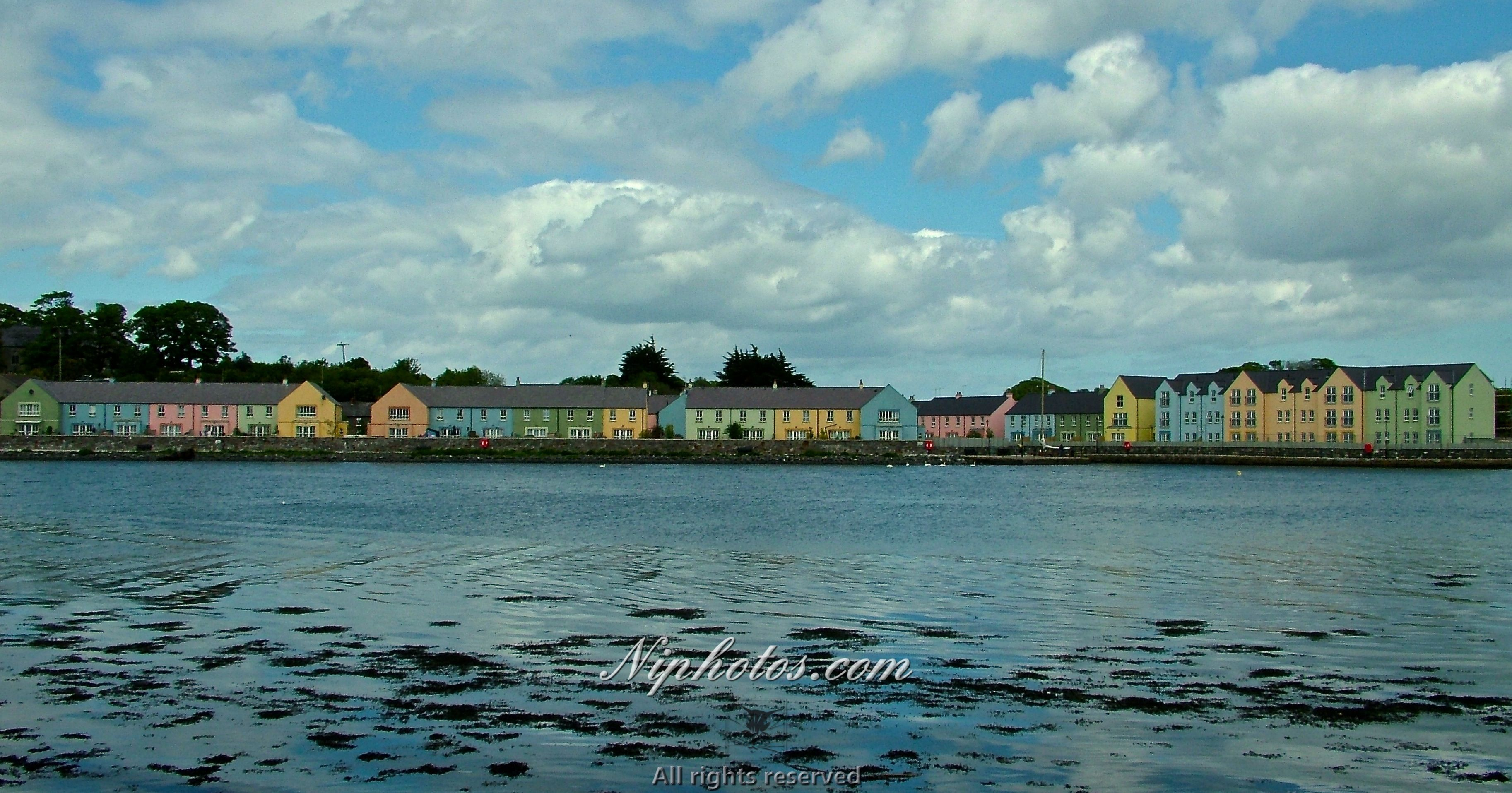 Colourful Houses On The Beach Line At Killinchy, County Down