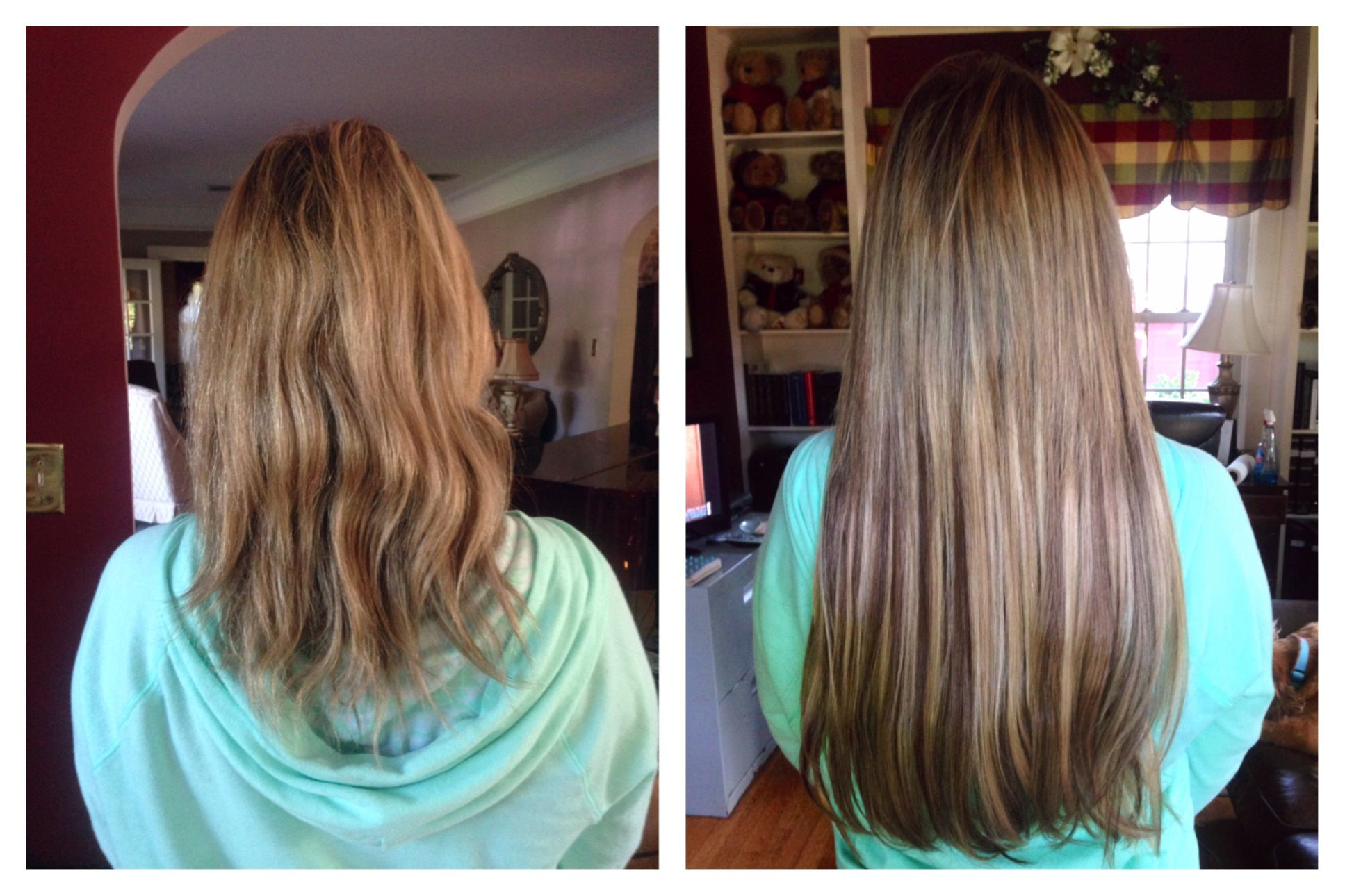 Blonde Hair Extension Makeover with lots of highlights and ...