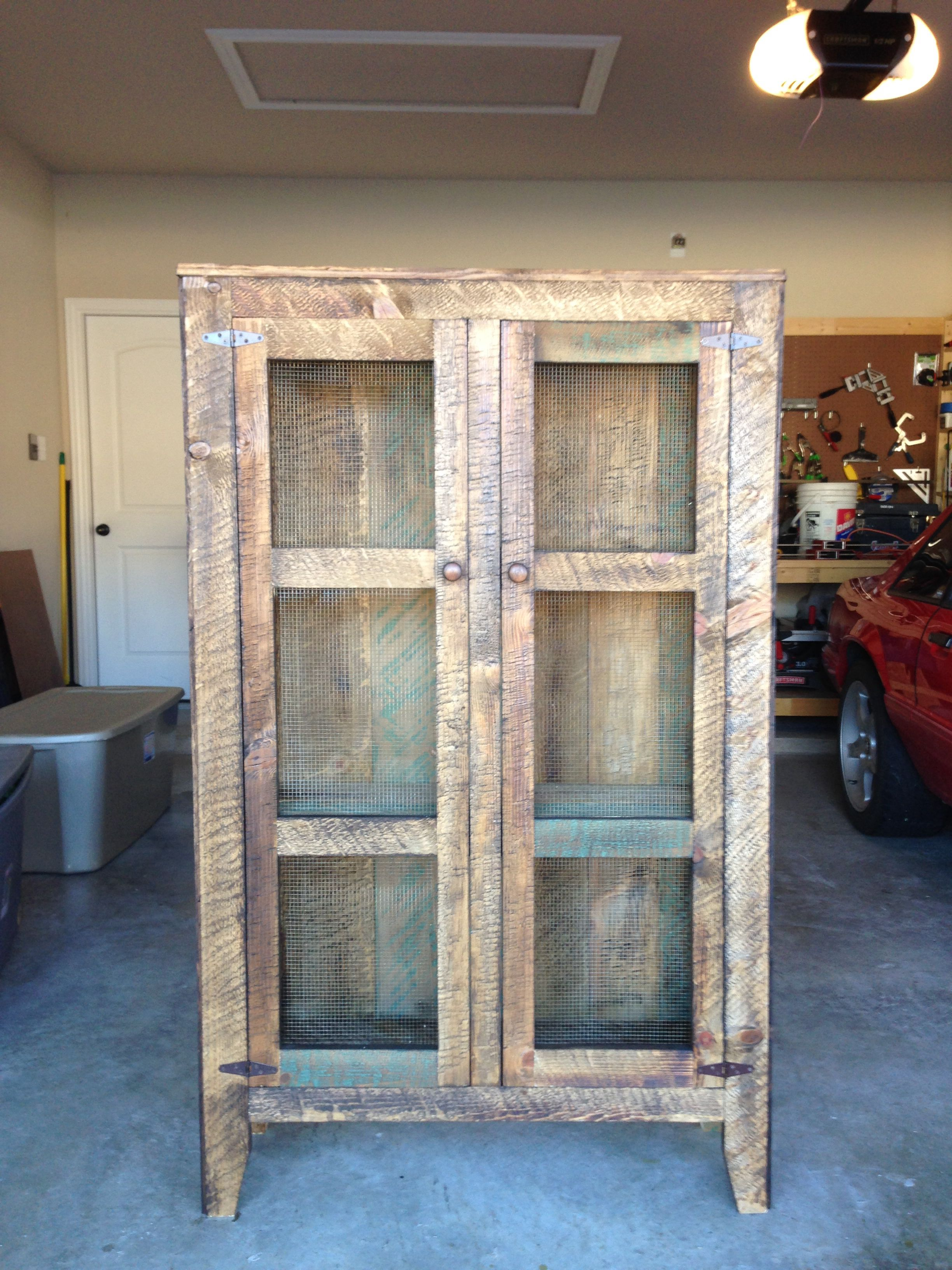 Pie Safe Made From Old Barn Wood Rustic Furniture Diy Old Barn