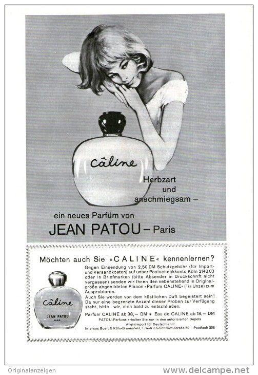 Original-Werbung/ Anzeige 1966 - 1/1-SEITE - PARFUM CALINE / JEAN PATOU - PARIS - ca. 150 X 230 mm