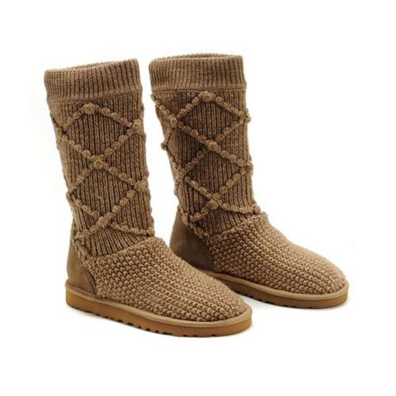 UGG Classic Argyle 5879 Chestnut Boots For Women