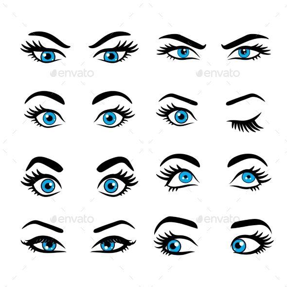 Set Of Cartoon Eyes Cartoon Eyes Cartoon Eyes Drawing Eye Drawing