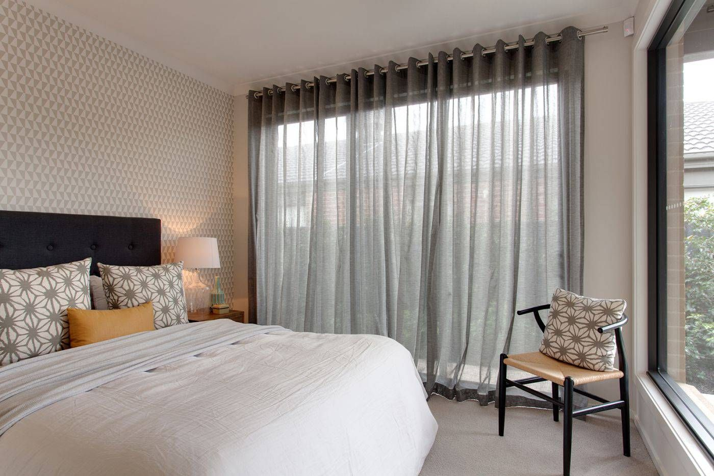 Inspiring Grey Decor Schemes That Will Get Your Heart Beating And Your Creative Juices Flowin Sheer Curtains Bedroom Curtains Living Room White Sheer Curtains