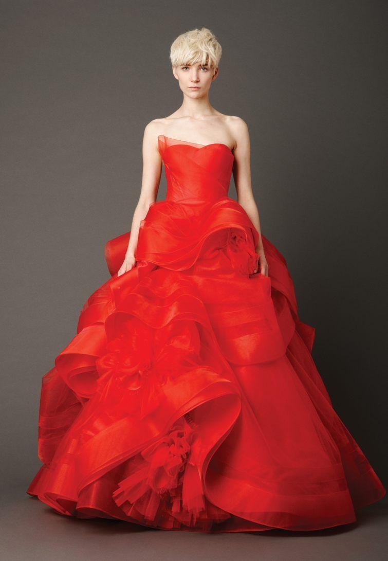 Cervene Svatebni Saty Vera Wang Red Wedding Dress By Vera Wang