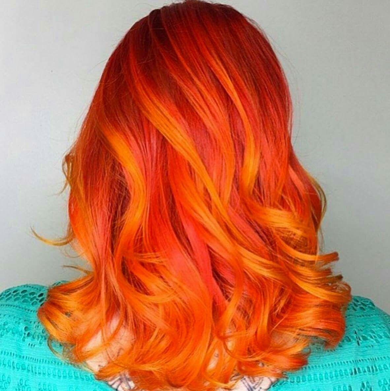 Photo of Cabello naranja brillante ♡♡♡