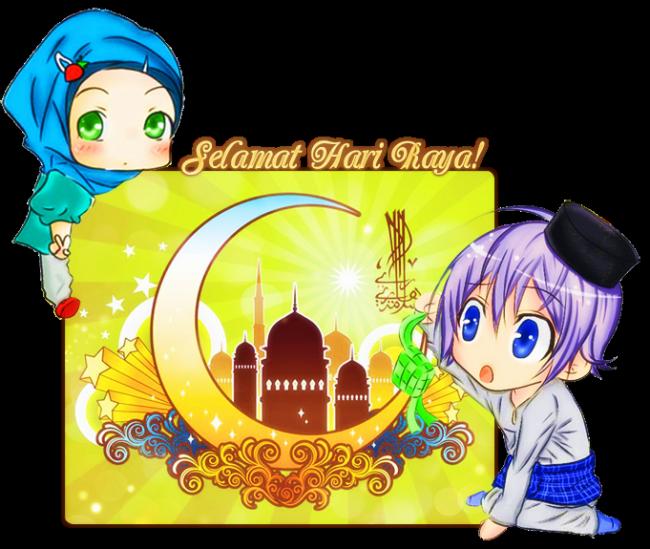 Chibi Selamat Hari Raya [Eid Greeting] Graphic | Resim ...