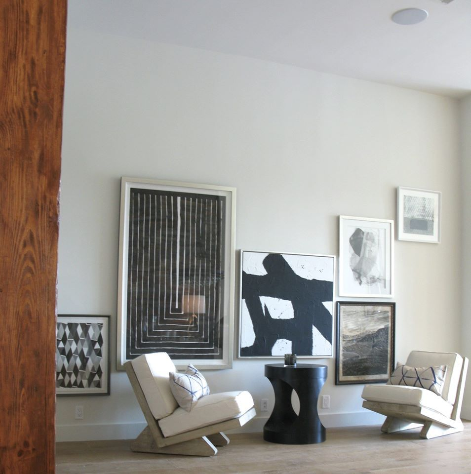 Lisa Sherry Interieurs sitting area with collage wall art — at Ft ...