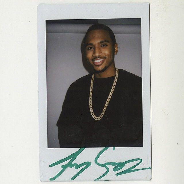 Trey Songz signed polaroid