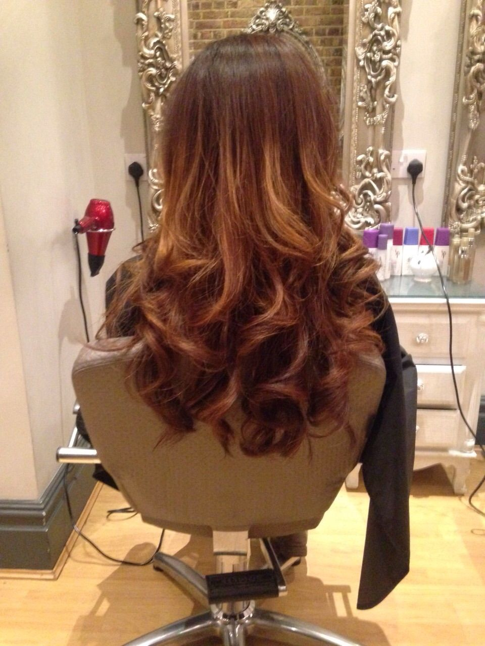 Curly Blowdry Created By One Of Our Trainees Hair Styles Long Hair Styles Curly Blowdry