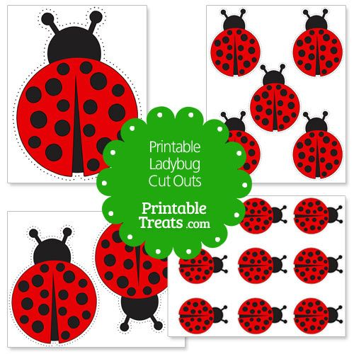 photograph relating to Printable Ladybug named Printable Ladybug Slice Outs Girl Insects Ladybug, Ladybug
