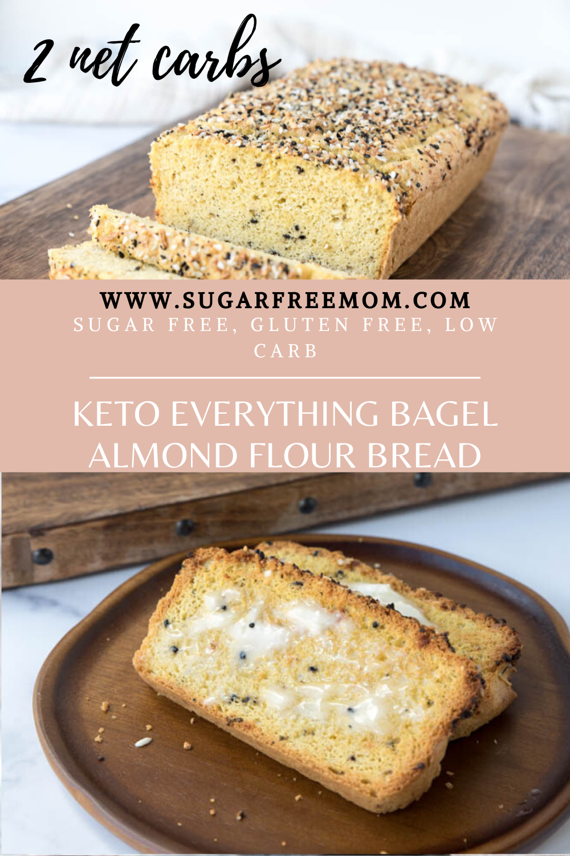 Keto Everything Bagel Almond Flour Bread Low Carb Gluten Free Recipe In 2020 Almond Flour Bread Lowest Carb Bread Recipe Everything Bagel