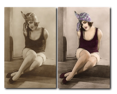 Colorizing black and white photo in paintshop pro psp