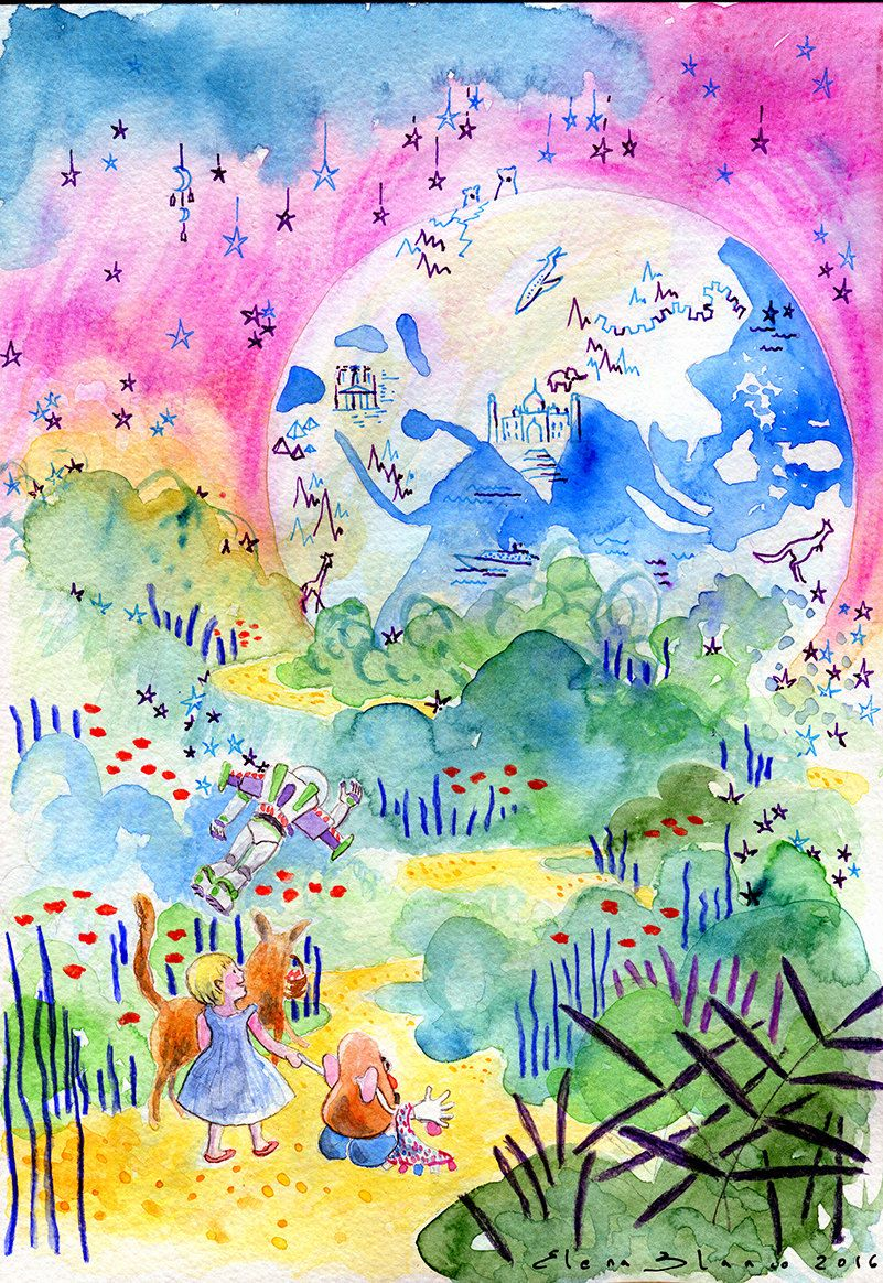 Watercolor books for kids - Custom Watercolor Painting Kids Illustration Childrens Book Art Baby First Birthday Book