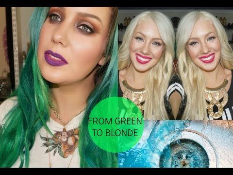 How To Remove Green Blue From Your Hair Blue Green Hair Green Hair Dye Dyed Hair Blue