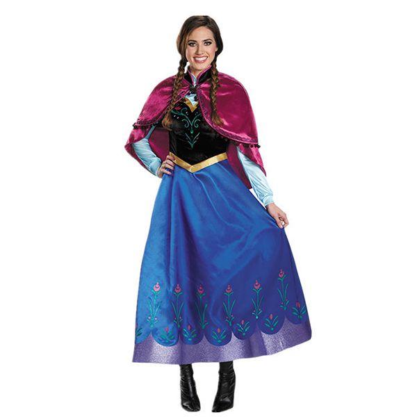 Princess Anna Ladies Fancy Dress Frozen Disney Princess Adult Fairy Tale Costume
