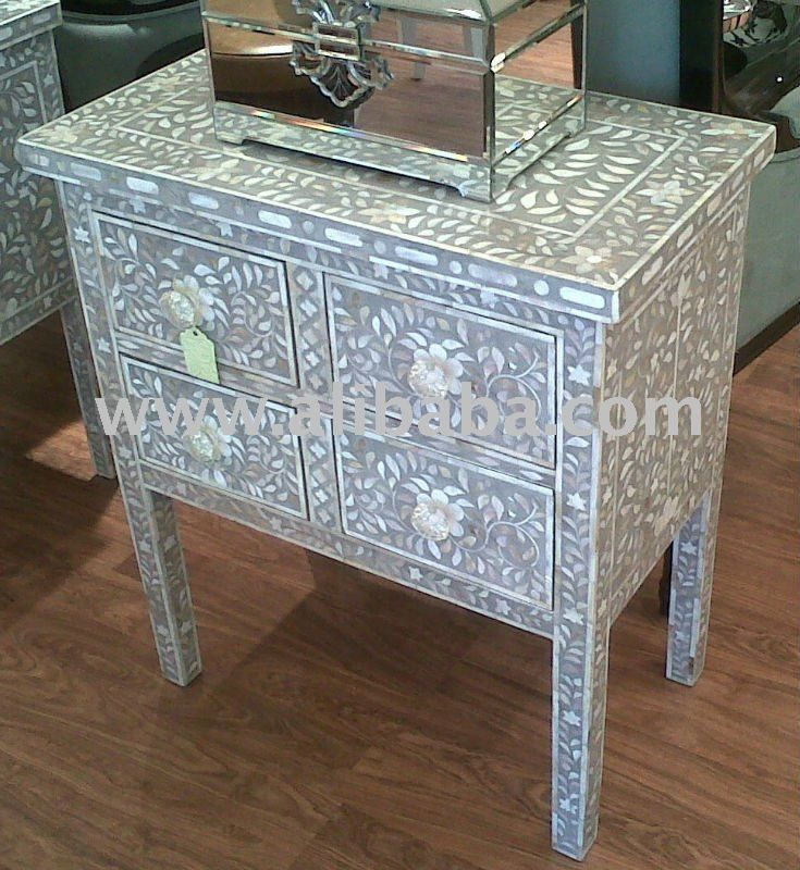 Mother of Pearl Inlay Chest of Drawer, View mop inlay ...