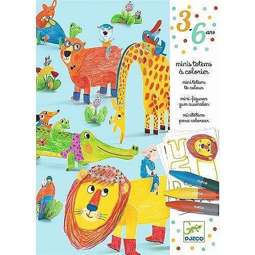 mini totems à colorier  tous copain  kids coloring books