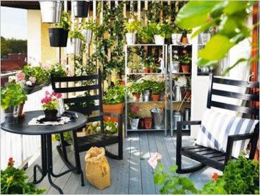 am nagement d co pour petit balcon m me troit balcons. Black Bedroom Furniture Sets. Home Design Ideas