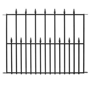 homey inspiration home depot garden fencing. Empire Steel Fence Panel  061115 at The Home Depot Tablet Hampton Bay 2 5 ft x 3 Black Rail