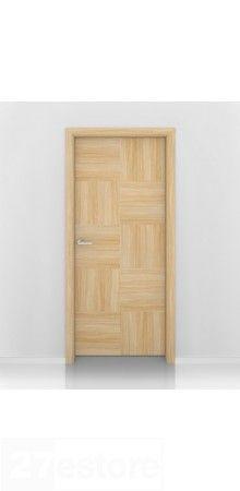 European Oak Checkers Interior Door
