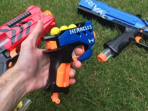 Nerf Mod: The Rival Heracles (First Nerf Rival Pistol/Sidearm) - YouTube