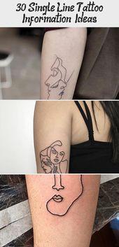 Photo of 30 Single Line Tattoo Information & Ideas – Tattoos  30 Small Minimalistic Tatto…