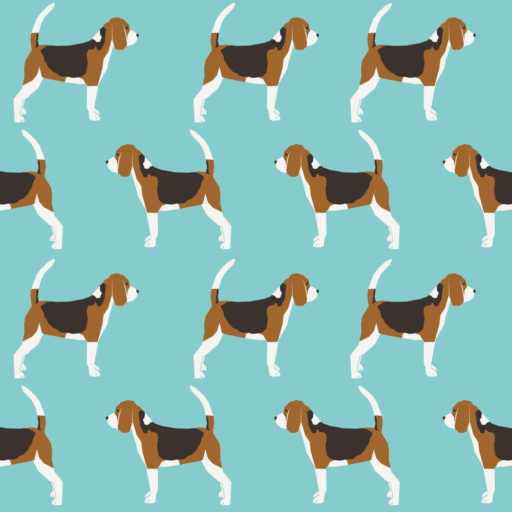 Beagle Fabric Beagles Pet Dog Dogs Beagle Pets Blue Classic