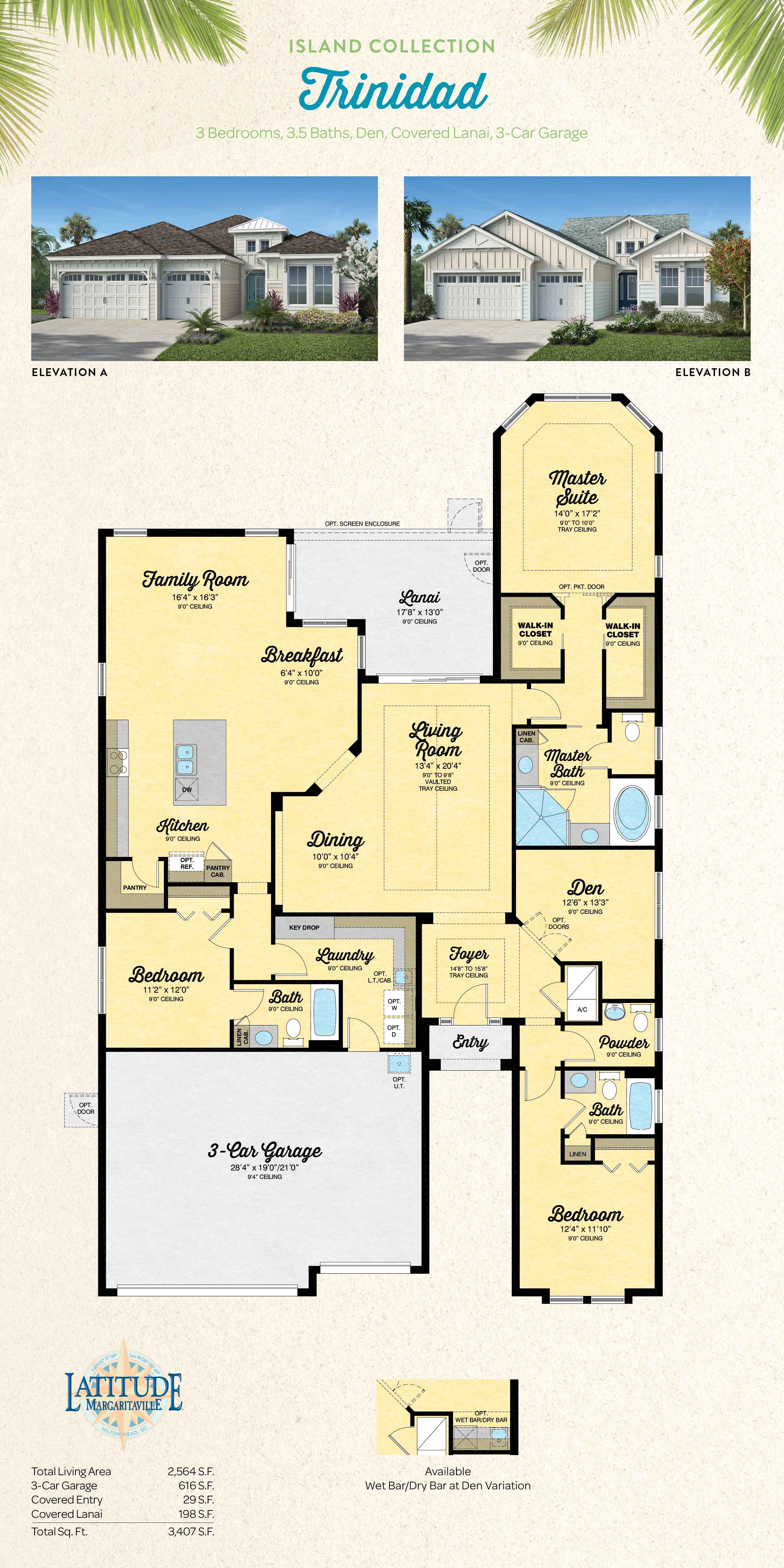 Trinidad House Plans Bedroom House Plans Floor Plans