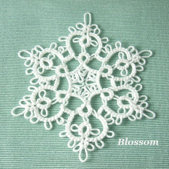 Handmade Tatting Lace Christmas Ornament Snowflake by SnappyTatter ...