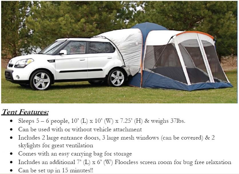 Hatchback Tent MSRP - $324.32 Quickly transform your Kia vehicle into a convenient and affordable RV! The innovative hatchback tent wraps around tu2026  sc 1 st  Pinterest & Hatchback Tent MSRP - $324.32 Quickly transform your Kia vehicle ...
