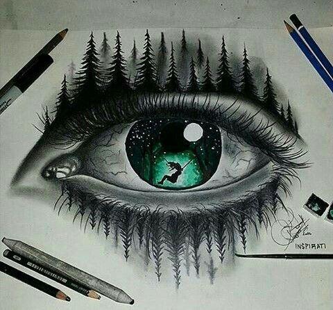 Liked drawing eyes
