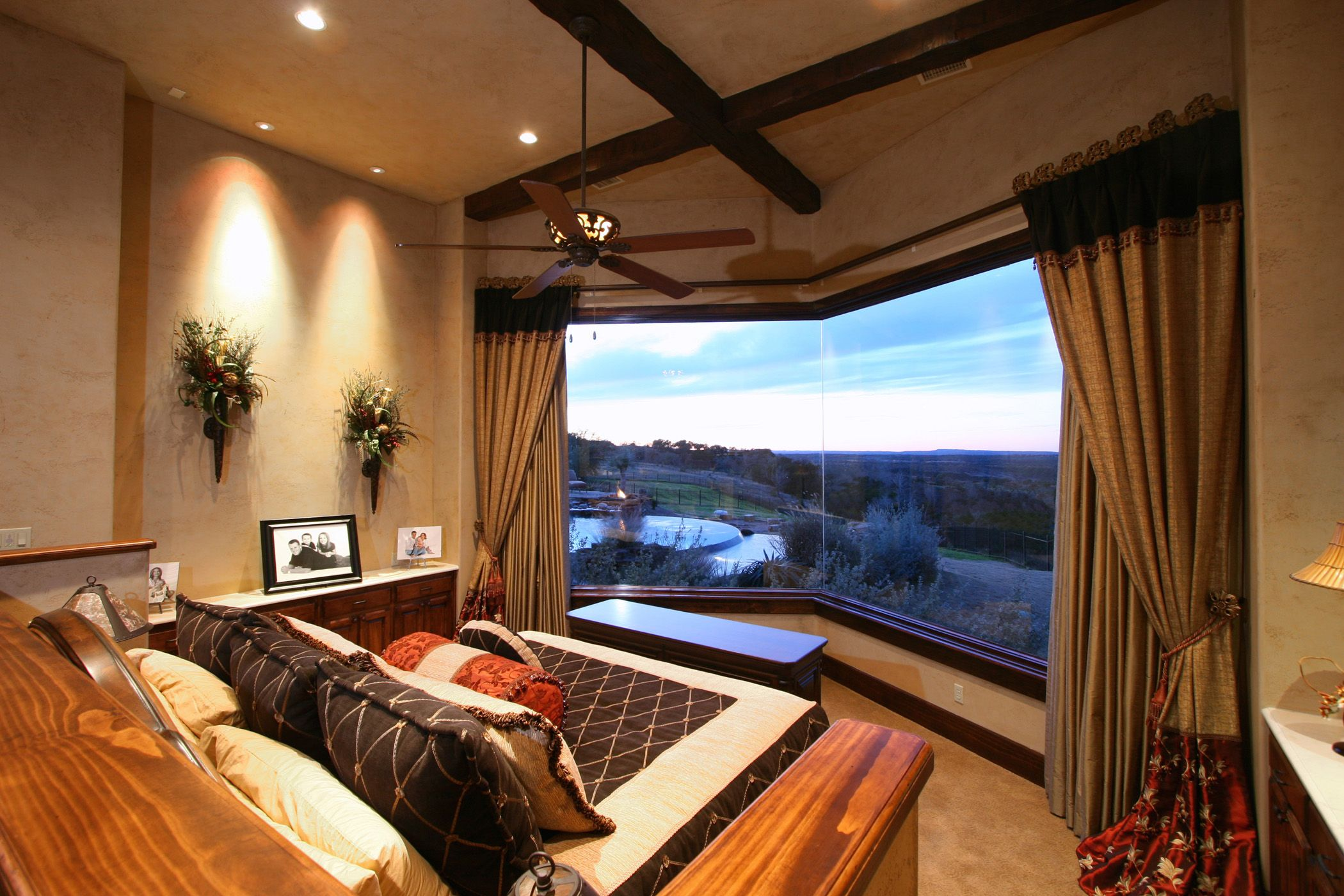 Custom Bedroom Designs   Bedroom   Belvedere Lake Travis Master Bedroom with Hill Country Views By  Curtains  For Bedroom Windows With. Custom Bedroom Furniture. Home Design Ideas