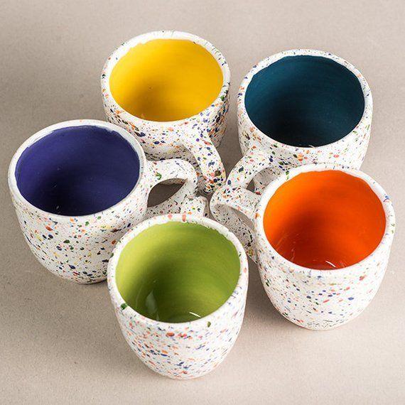 Pottery cup Pottery mug Ceramics cup, ceramic mugs,coffee mugs, tea cups,tazza tèTazza per il latte, tazza bianca, tazza colorata #ceramicmugs
