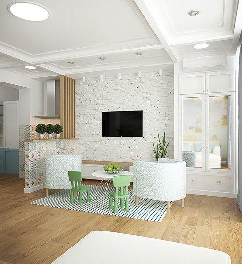 Ein kreatives Konzept, wenn Küche, Esszimmer und Wohnzimmer alles in - küche mit esszimmer