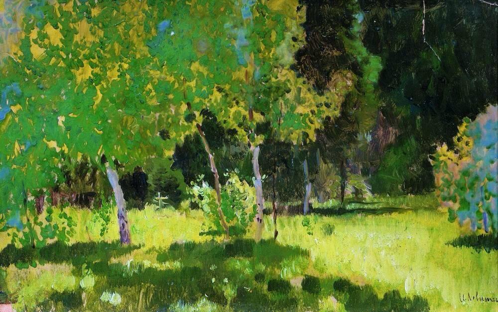 A garden - Isaac Levitan