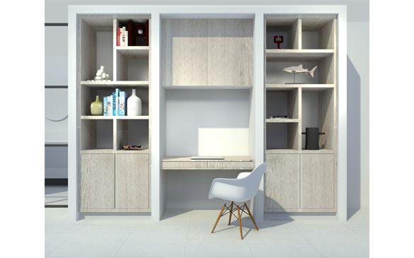 D visual kastenwand op maat woonkamer door studio nest shelf