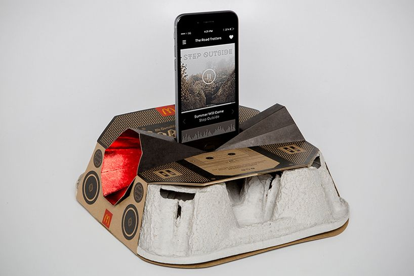 Mcdonald S Metamorphoses Cup Holder Into Recyclable Boombox