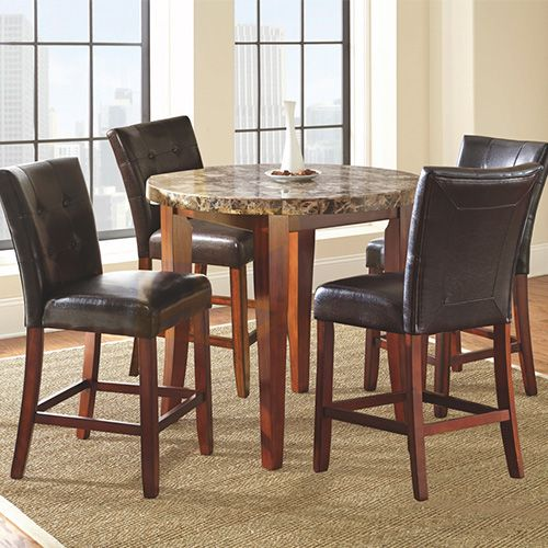 Steve Silver Montibello 5Piece Counterheight Pub Dining Group Glamorous High Quality Dining Room Sets Inspiration Design
