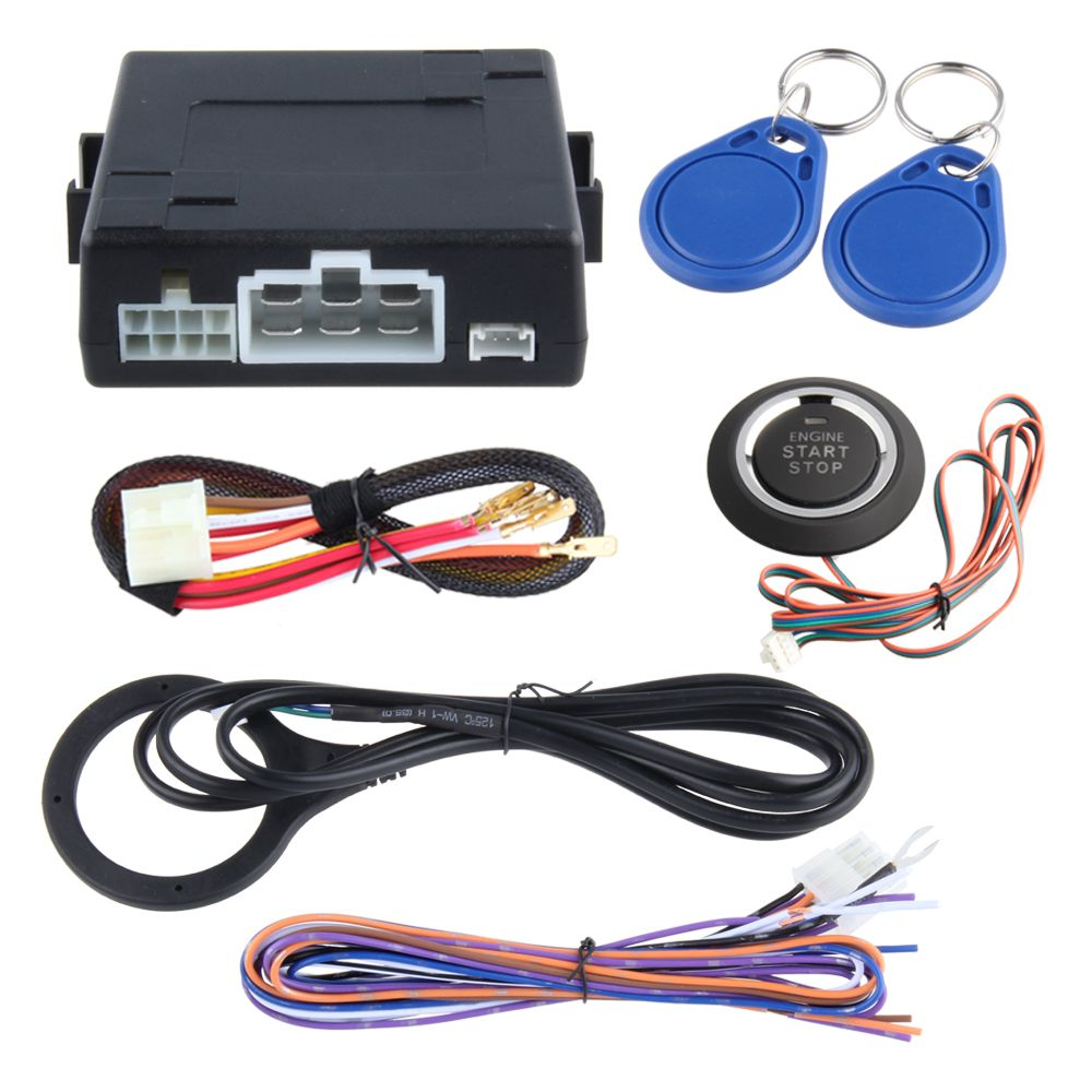 Transponder immobilizer RFID car alarm kit remote engine start stop